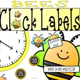 Bee Clock Labels: Perfect for Telling Time! Bee Classroom