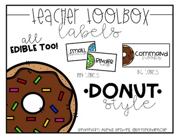 Donut Toolbox Labels: Donut Edition