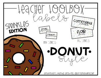 Donut Toolbox Labels: Sprinkle Edition *EDITABLE*