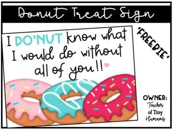 Donut Treat Sign