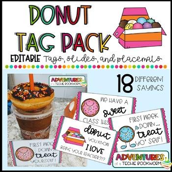 Donut Treat Tags