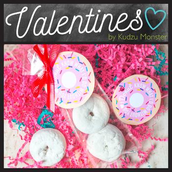 Donut Valentine Tag