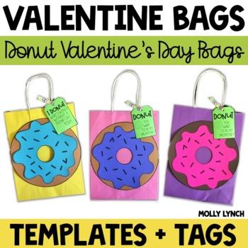 Donut Valentine's Day Treat Bags