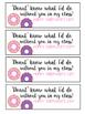 Donut Valentines *Valentines from the Teacher