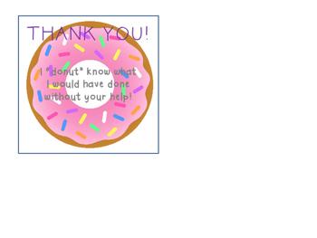 Donut Volunteer Gift Tag
