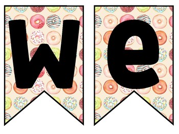 Donut Welcome Banner!