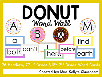 Donut Word Wall