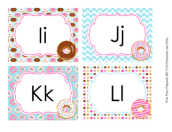 Donut Word Wall Headers
