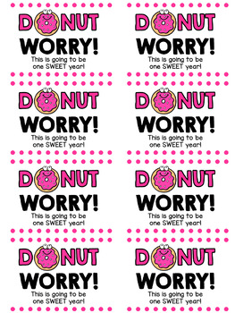 Donut Worry Labels for Treat Favors
