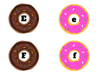 Donut You Love Letters Target Erasers Beads Matching Upper Lowercase