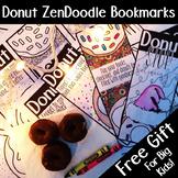 Donut Zen Doodle Bookmarks, Christmas Gift Printable, #LastMinuteGiftsforBigKids