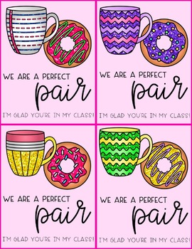 Donut and Coffee Valentine's Day Cards and Coloring Pages