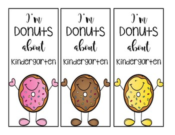 Donut bookmark freebie