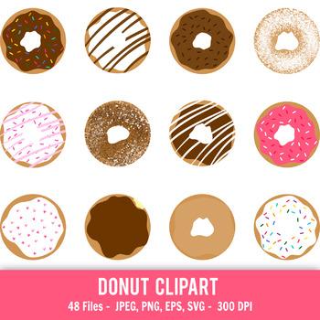 donut clipart doughnut clipart printable donuts cute donut rh teacherspayteachers com donut clipart border donut clipart