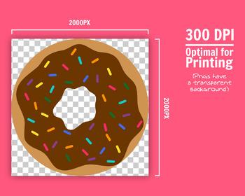 Donut clipart, Doughnut clipart, Printable donuts, Cute donut clipart, Dessert