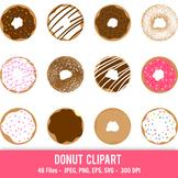 Donut clipart, Doughnut clipart, Printable donuts, Cute do