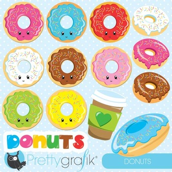 Donut clipart commercial use, graphics, digital clip art - CL870