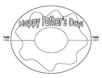 Donut for Dad Father's Day Card