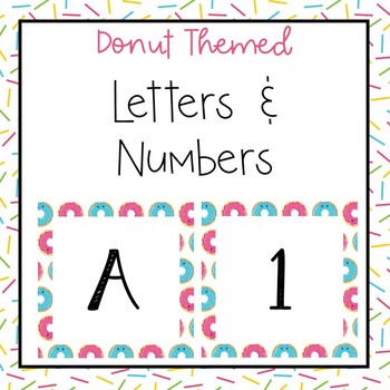 Donut letters and numbers for bulletin board, calendars, & class management