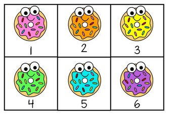 Donut number activity