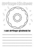 Donut sprinkle kindness friends activity