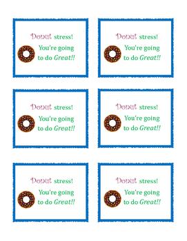 Donut test taking motivational card
