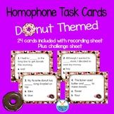 Donut themed homophone task cards