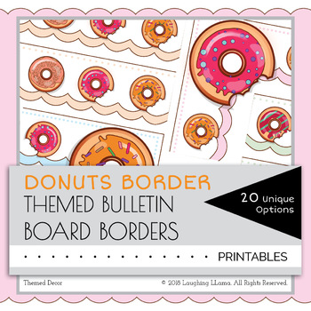 Donuts Border Decor Bulletin Board Cute