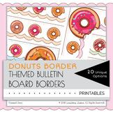 Donuts Border Decor Bulletin Board Cute