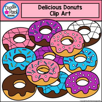 Donuts Clip Art Set - Doodle Patch Designs