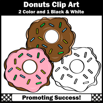 Donuts Clip Art, Doughnuts Baking Clipart, Cooking Bakery Theme SPS