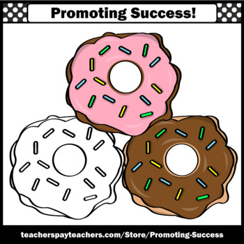 Donuts Clip Art, Commercial Use SPS