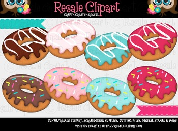 Donuts ClipArt - Commercial Use