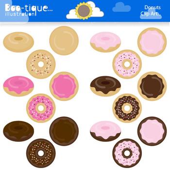 Clipart: Doughnuts Clipart Set