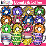 Donuts & Coffee Clip Art: Food Groups & Nutrition Graphics {Glitter Meets Glue}