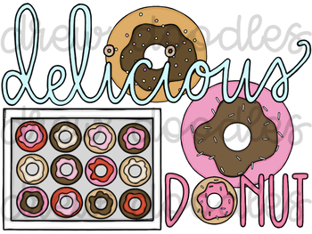 Donuts Digital Clip Art Set