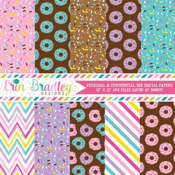 Donuts Digital Paper Pack