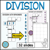 Donuts Division practice Google Slides™, Long Division, Division with remainders