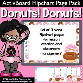 Donuts! Donuts! ActivBoard Flipchart Pages Pack