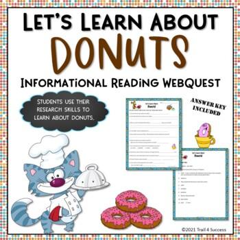 Donuts Doughnuts Webquest Reading Activity Internet Scavenger Hunt