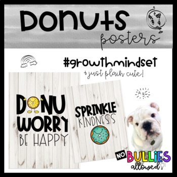 Donuts- Growth Mindset Posters
