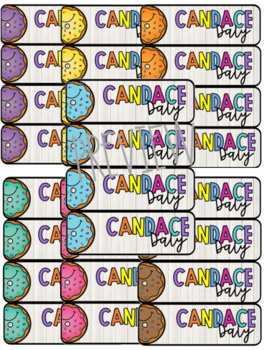 Donuts Editable Name Plates