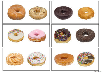 Donuts Same and Different Sorting Activity for Special Education