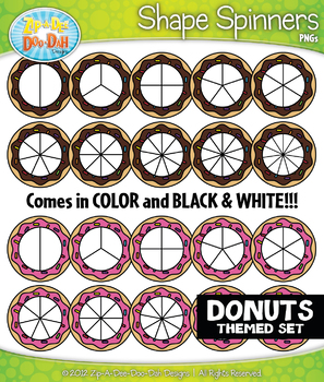 Donuts Spinner Shapes Clipart {Zip-A-Dee-Doo-Dah Designs}