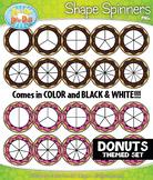 Donuts Spinner Shapes Clipart {Zip-A-Dee-Doo-Dah Designs}