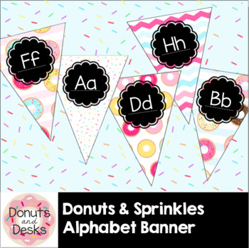 Donuts & Sprinkles Alphabet Banner Flags