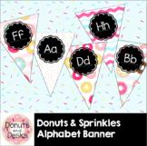 Donuts & Sprinkles Alphabet Banner Flags