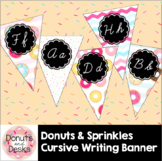 Donuts & Sprinkles Cursive Writing Banner Flags