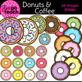 Donuts and Coffee {Clip Art}