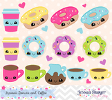 Donuts and Coffee Clipart
